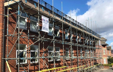 Residential Scaffolding Portfolio - Side for Re-Roof