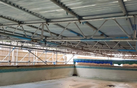 Specialist Scaffolding Portfolio - Temporary Roof Over Swimming Pool