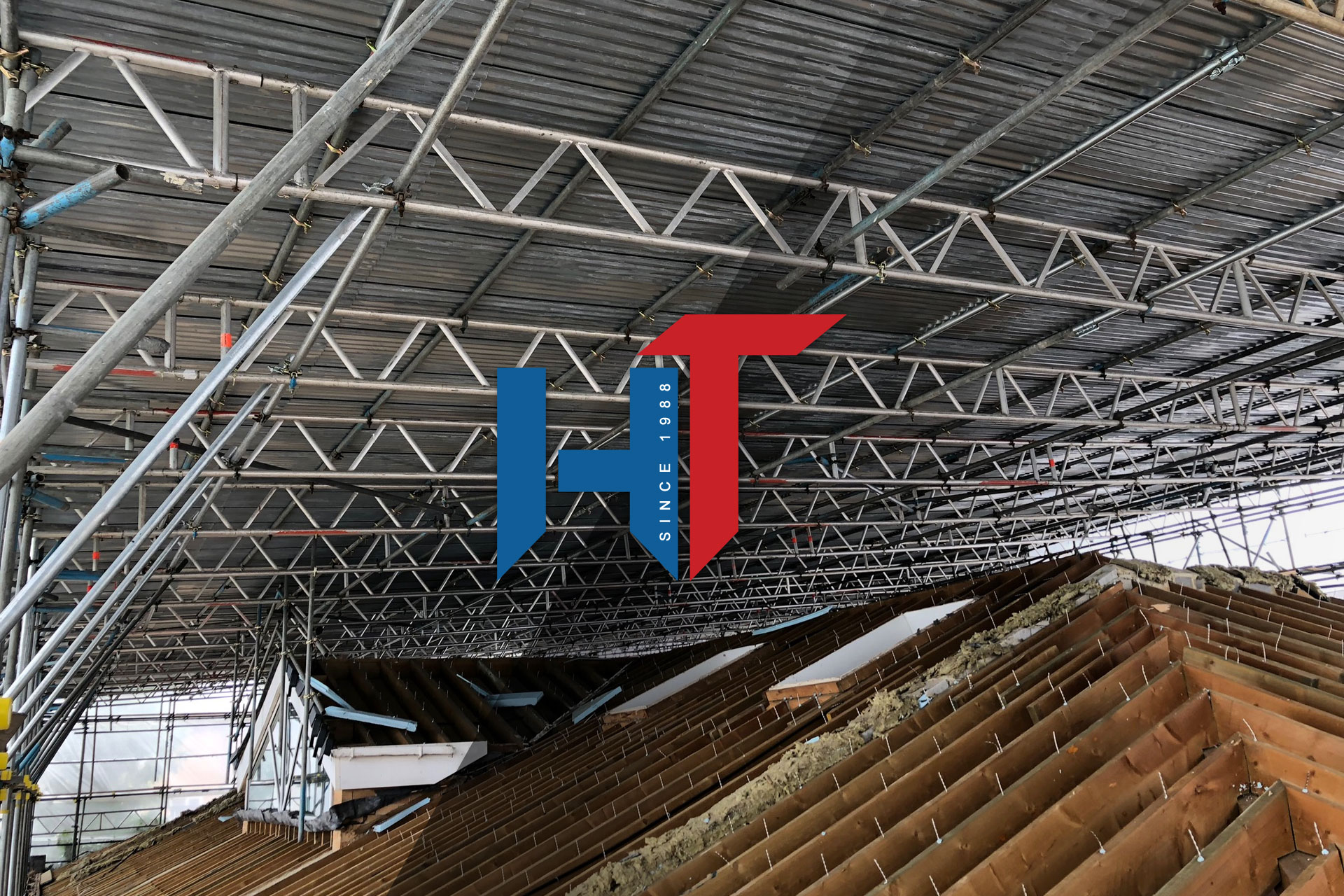 High-Tek Scaffolding Ltd - Slide Clear Temporary Roof Structure Dorset and Hampshire